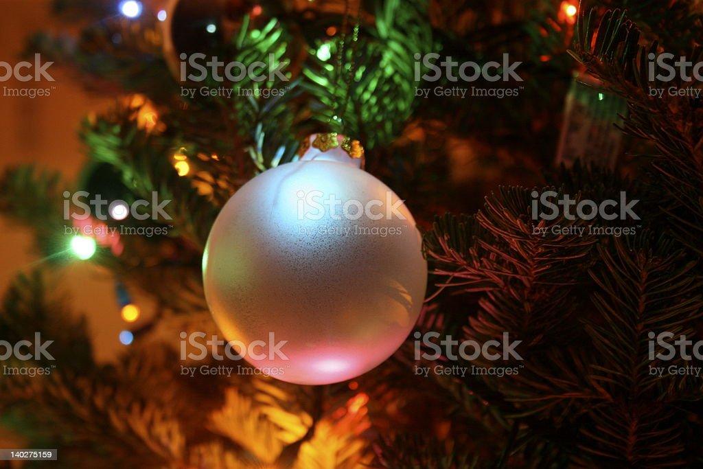 Christmas Tree ornament closeup stock photo