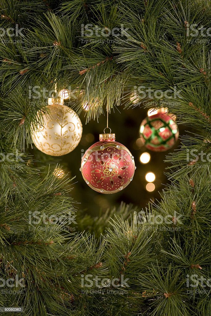 Christmas Tree Scene royalty-free stock photo