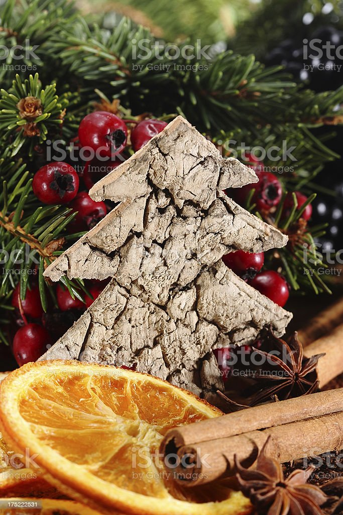 Christmas tree shape stock photo