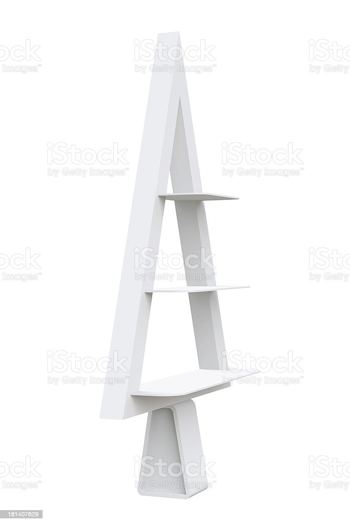 3D Christmas tree shelves and shelf design, isolated royalty-free stock photo