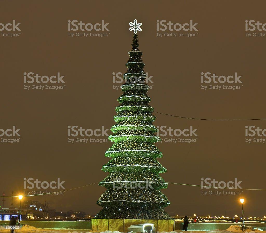 Christmas tree, St. Petersburg royalty-free stock photo