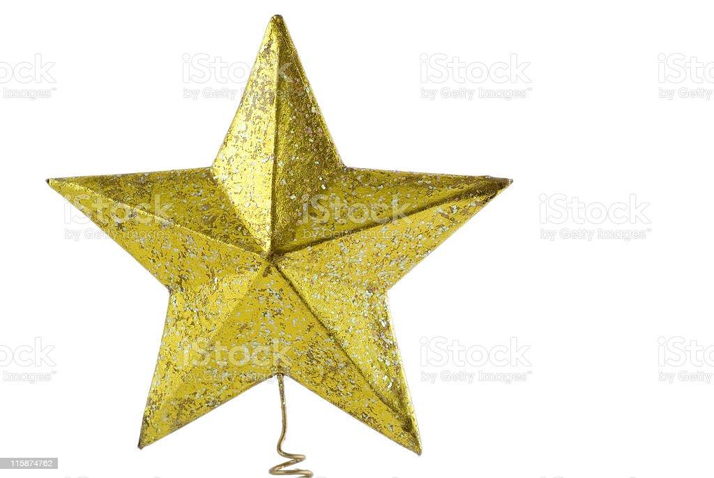 Christmas tree star, close up stock photo