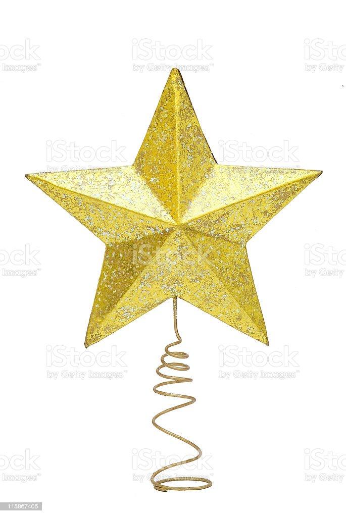 Christmas tree star stock photo