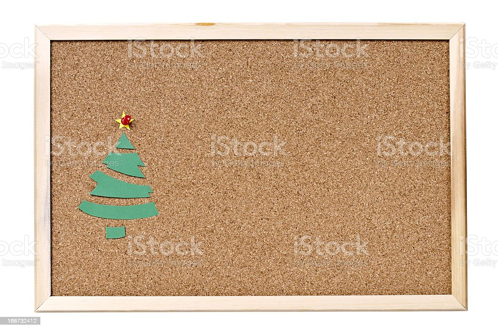 Christmas Tree to Cork Bulletin Board stock photo