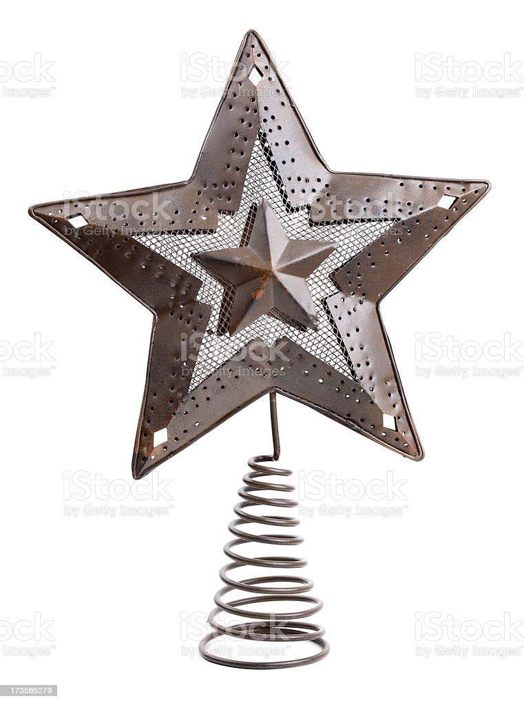 Christmas Tree Topper royalty-free stock photo