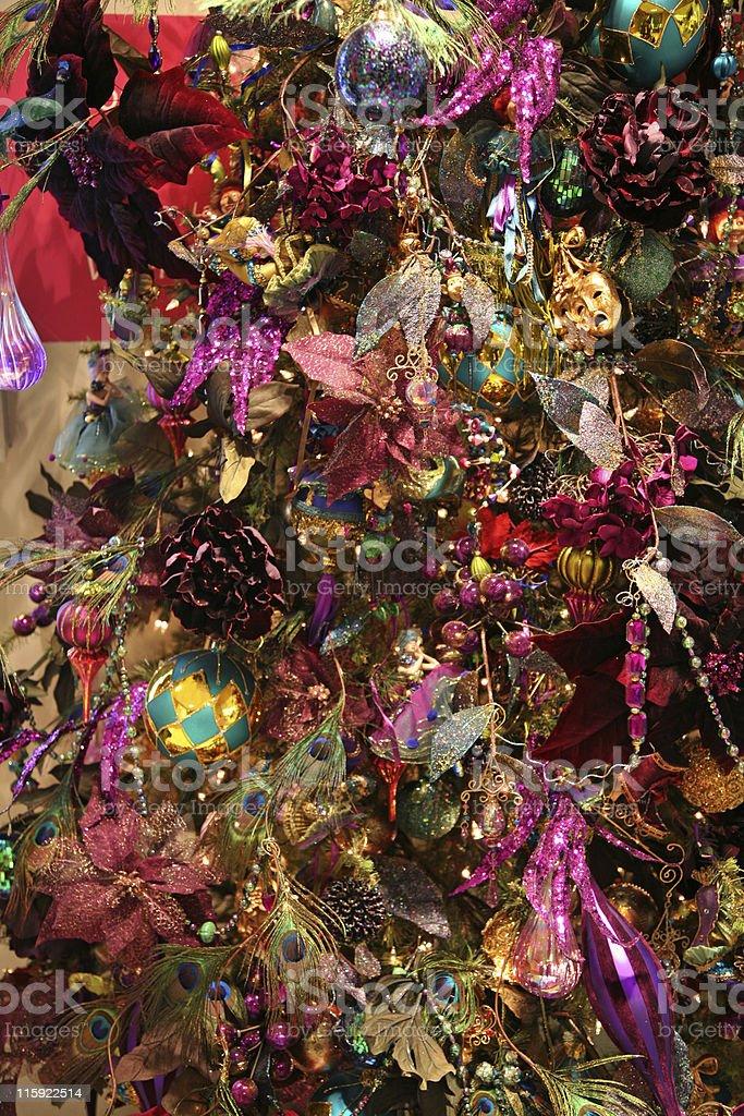 Christmas tree violet detail royalty-free stock photo