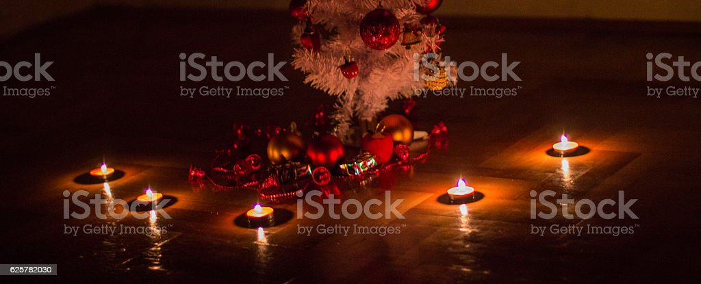 Christmas tree with candlelight royalty-free stock photo