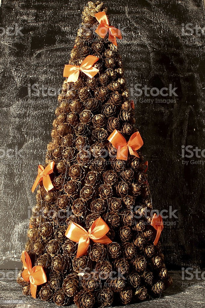 Christmas tree with cones royalty-free stock photo