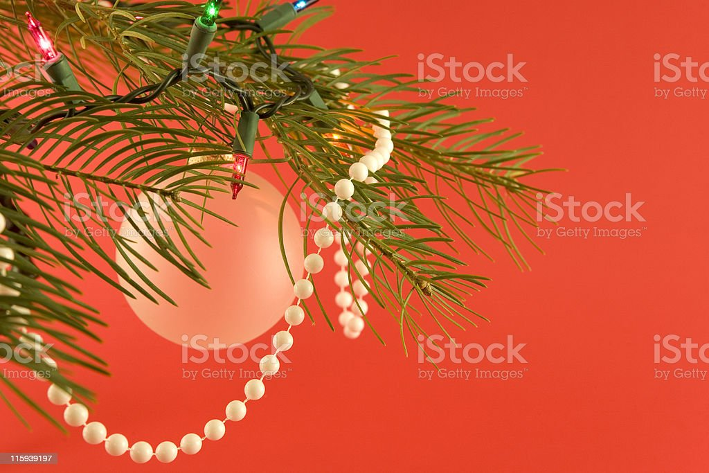 Christmas Tree with Decorations royalty-free stock photo