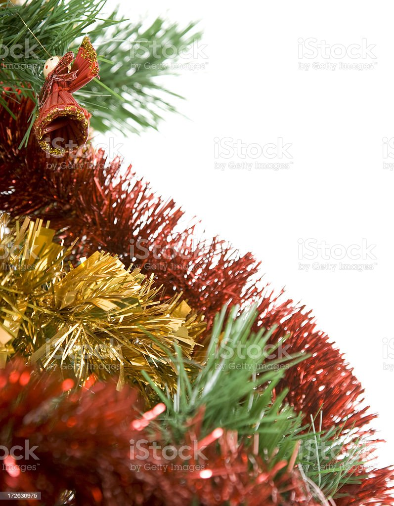 Christmas tree with ornaments isolated on white royalty-free stock photo