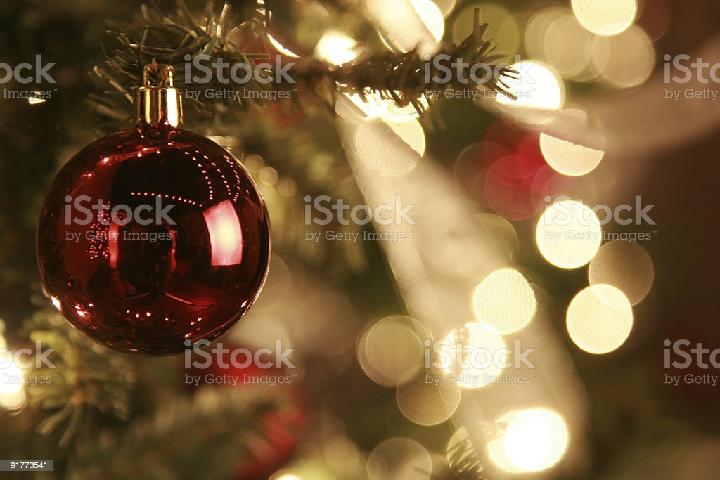 christmas tree with ornaments royalty-free stock photo