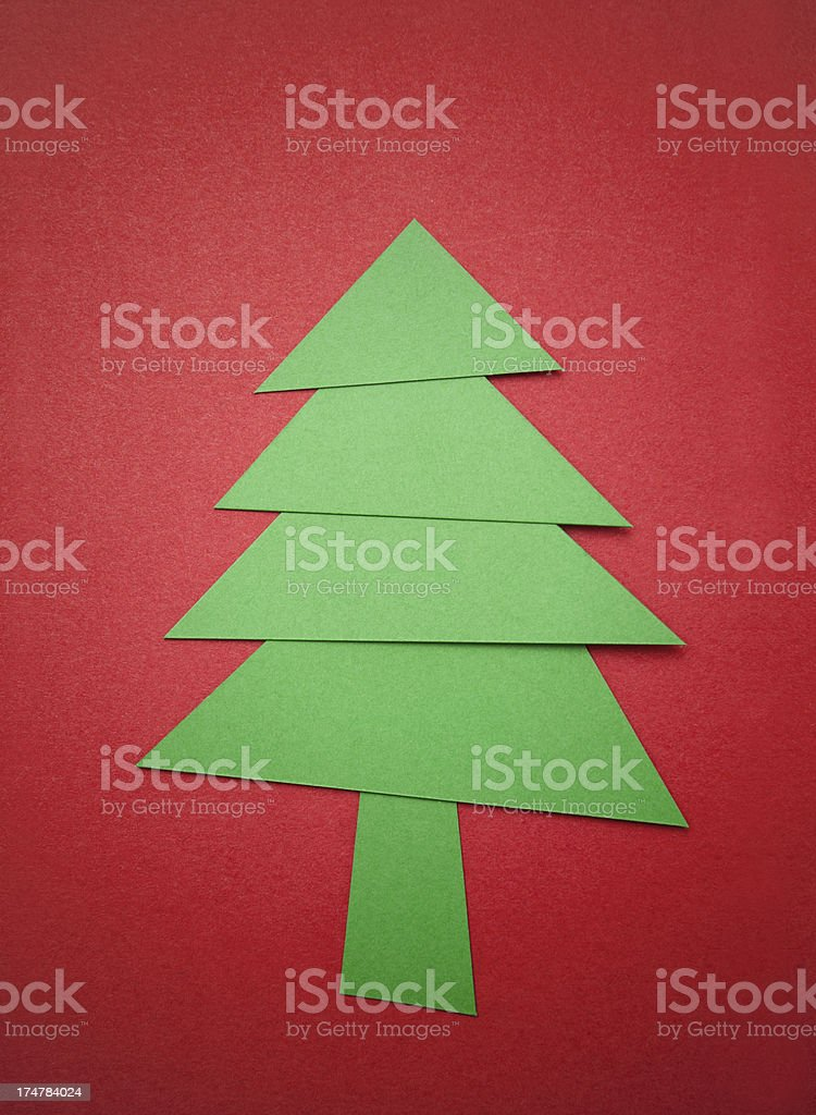 Christmas tree with paper textured background royalty-free stock photo