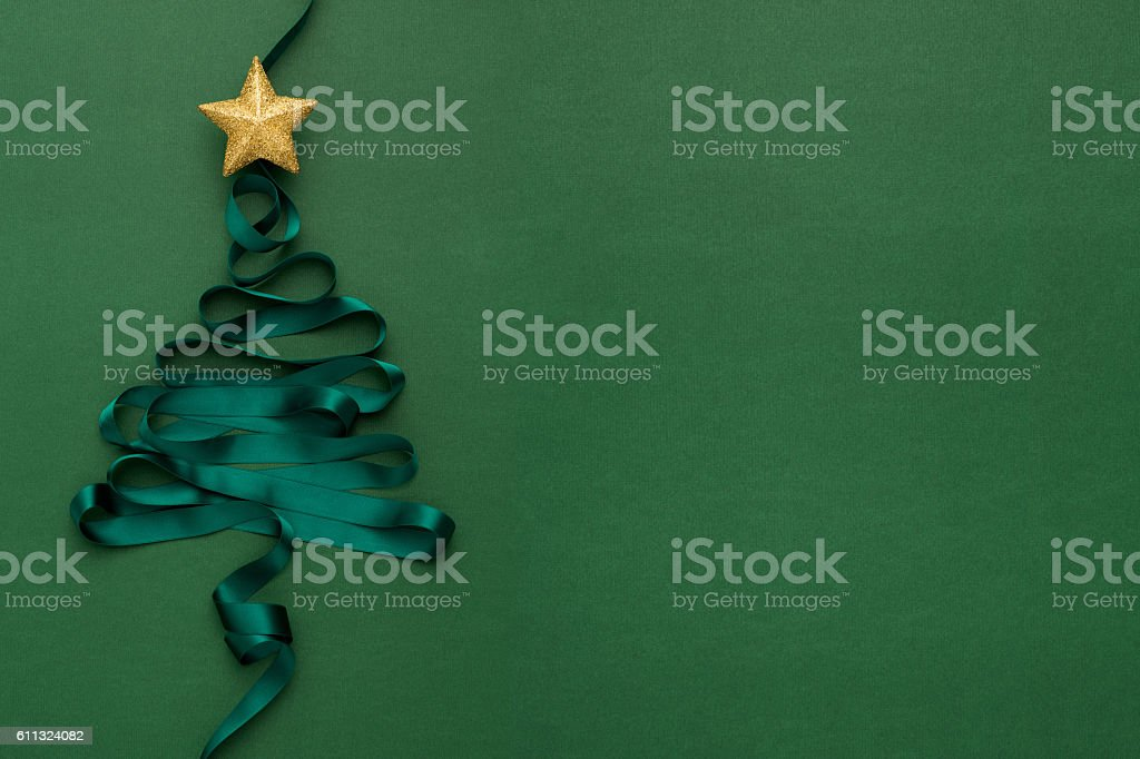 Christmas Tree with Star stock photo