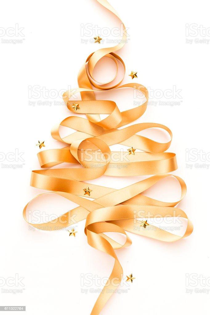 Christmas Tree with Stars stock photo