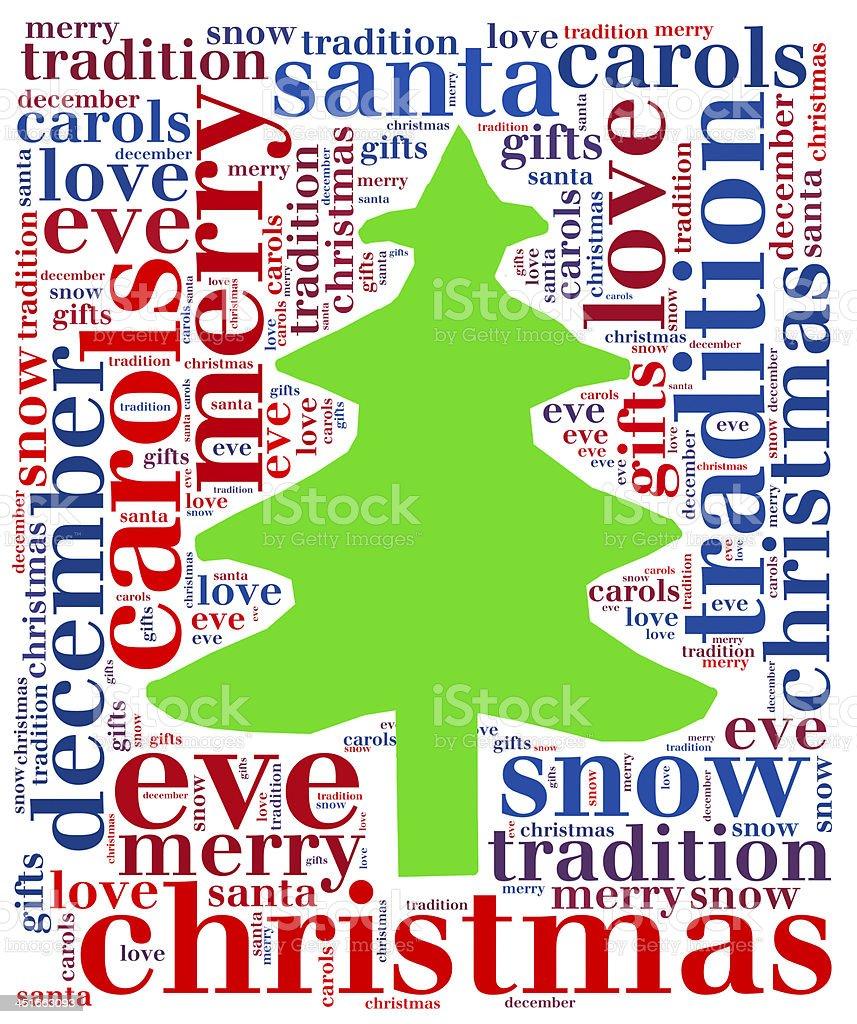 Weihnachtsbaum word cloud Lizenzfreies stock-foto