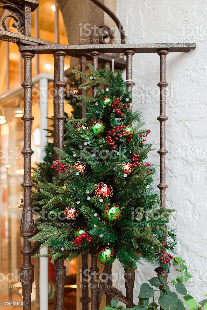 Christmas Tree Wreath stock photo