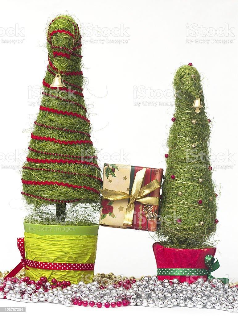 Christmas trees made of sisal royalty-free stock photo