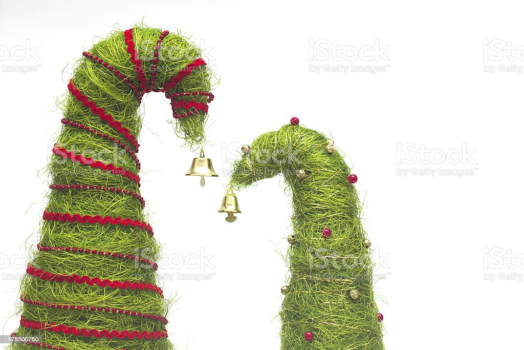 Christmas trees made of sisal royalty-free stock photo