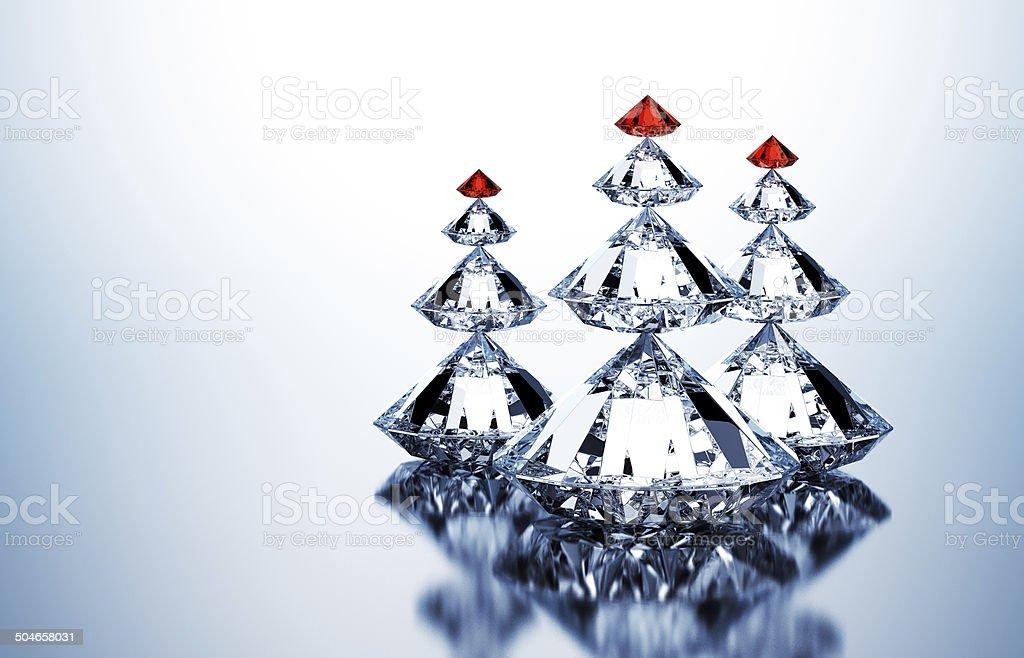 Christmas Trees Of Diamonds stock photo