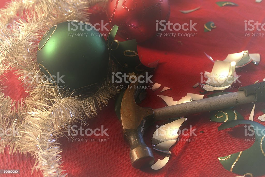 Christmas troubles royalty-free stock photo