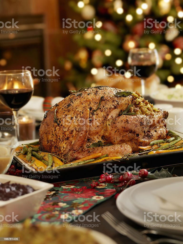 Christmas Turkey Dinner royalty-free stock photo