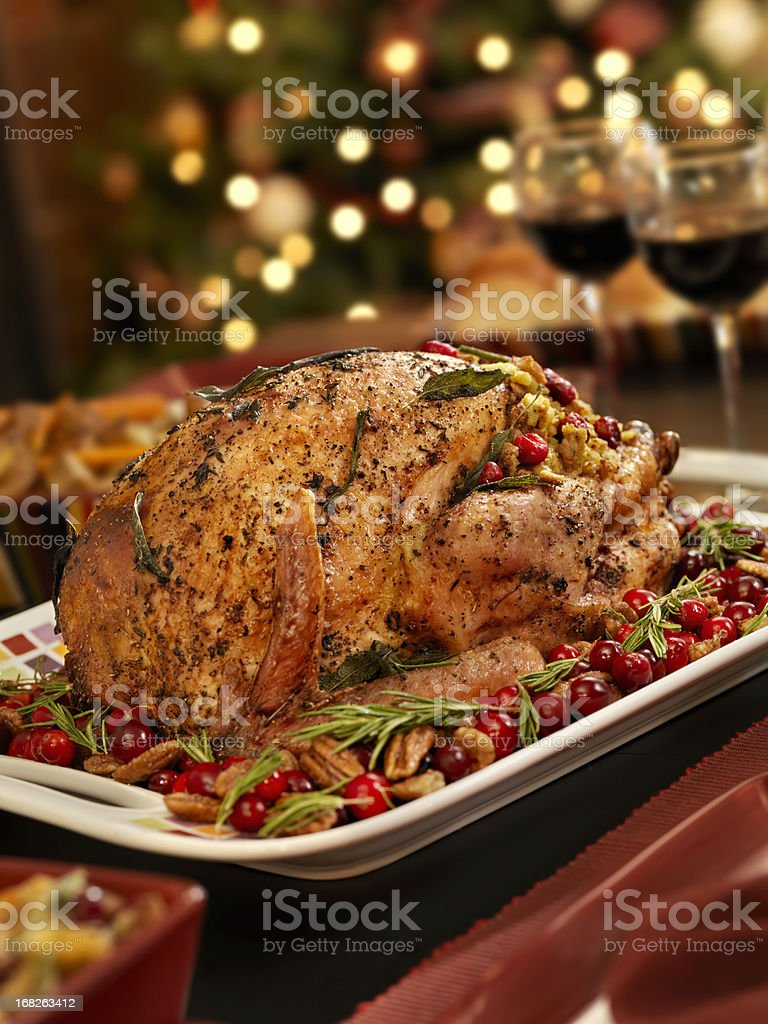 Christmas Turkey Dinner royalty-free stock photo