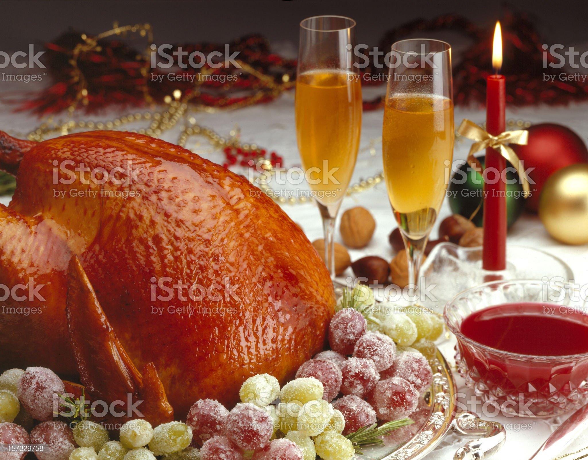 Christmas Turkey royalty-free stock photo