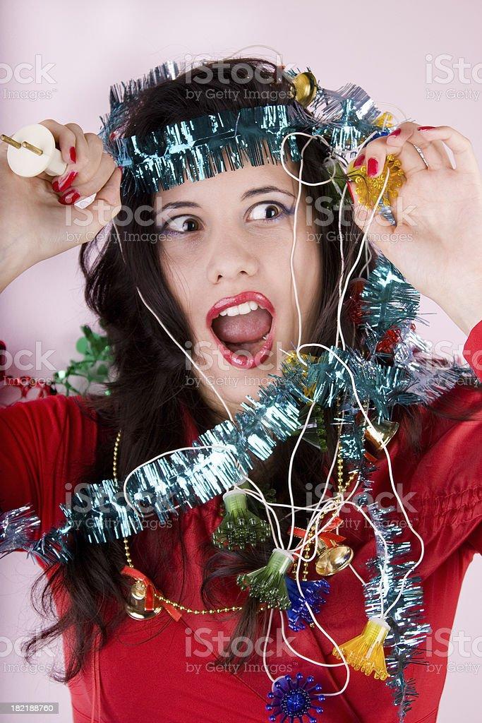 Christmas turmoil and stress stock photo