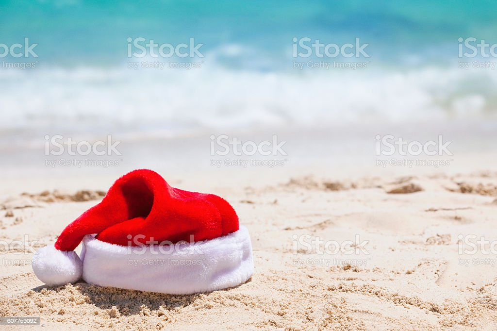 Christmas Vacation to the Beach stock photo