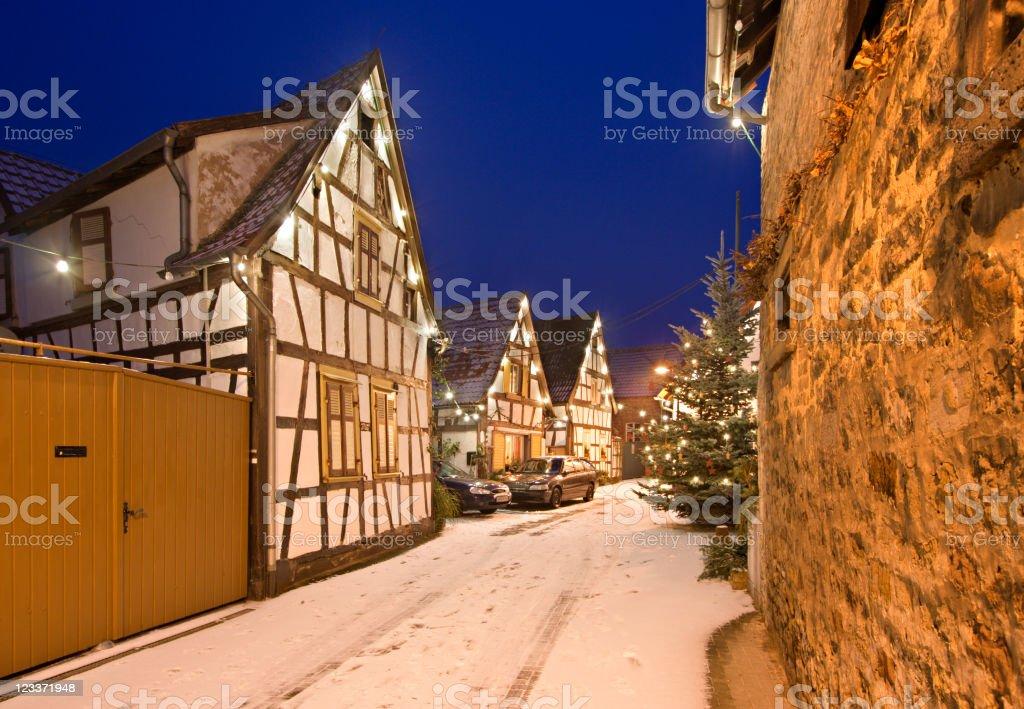 Christmas Village royalty-free stock photo