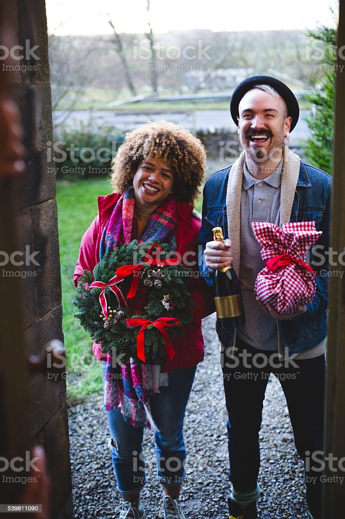 Christmas Visitors stock photo