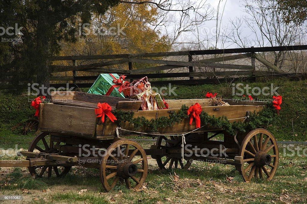 Christmas Wagon royalty-free stock photo