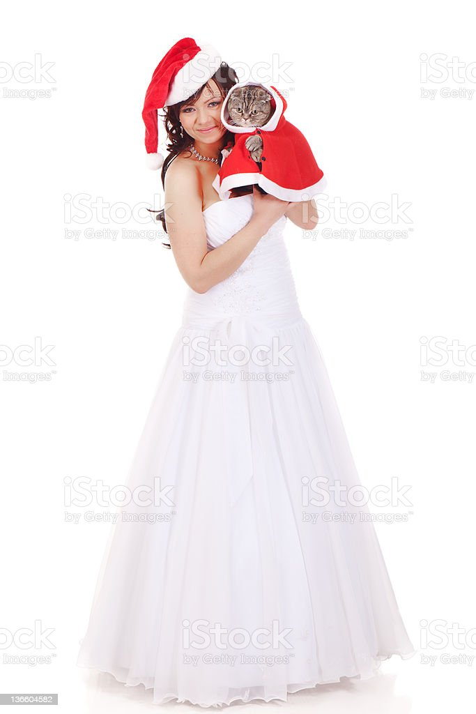 Christmas wedding royalty-free stock photo