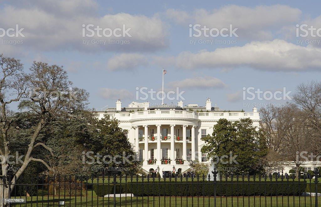 Christmas Whitehouse royalty-free stock photo