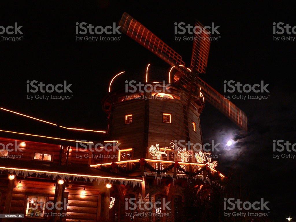 Christmas windmill royalty-free stock photo
