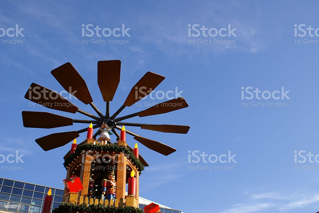 Christmas windmill royalty-free stock photo