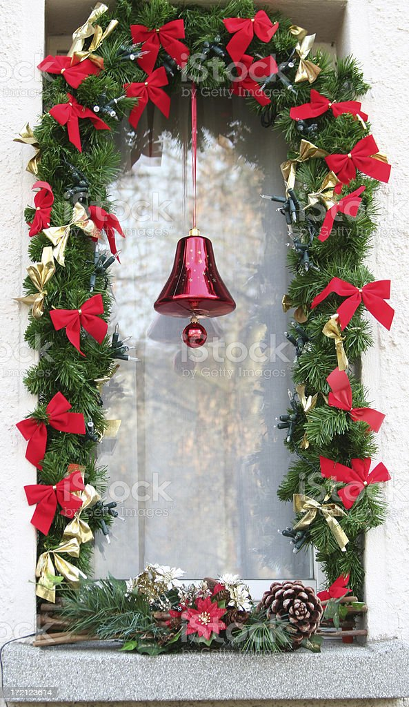 Christmas WINDOW royalty-free stock photo