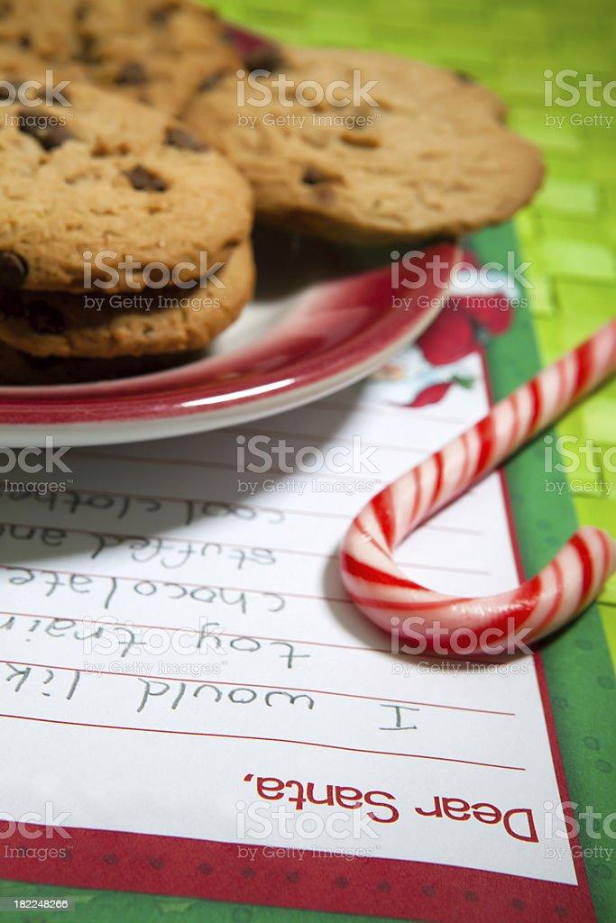 Christmas Wish List royalty-free stock photo