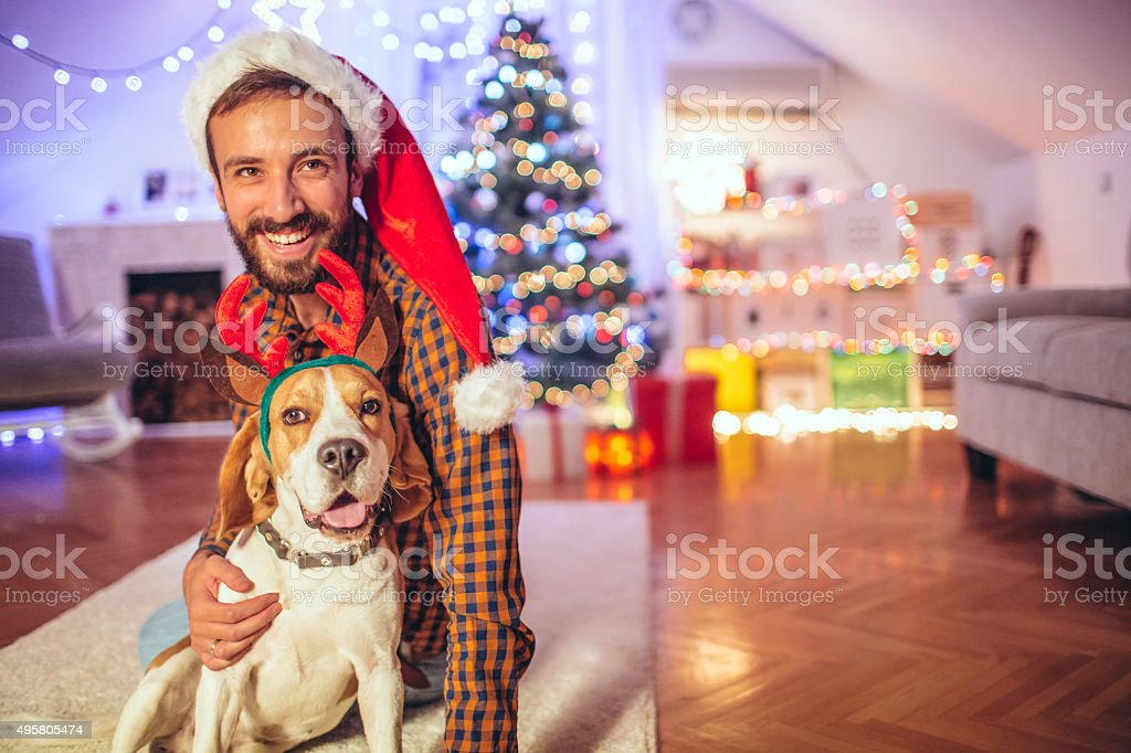 Christmas with my best friend stock photo