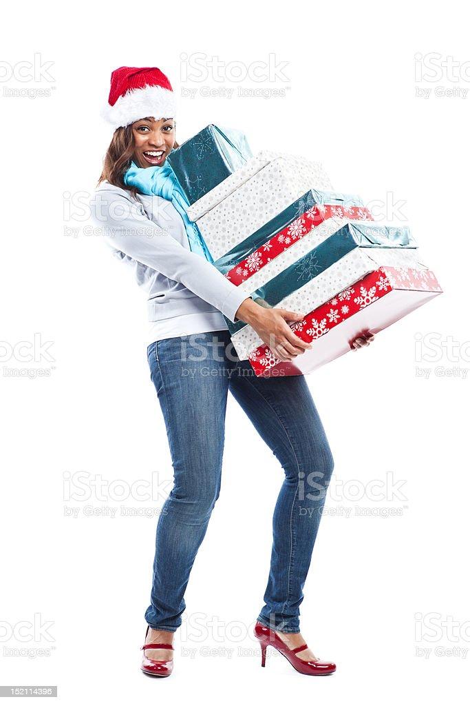Christmas woman royalty-free stock photo