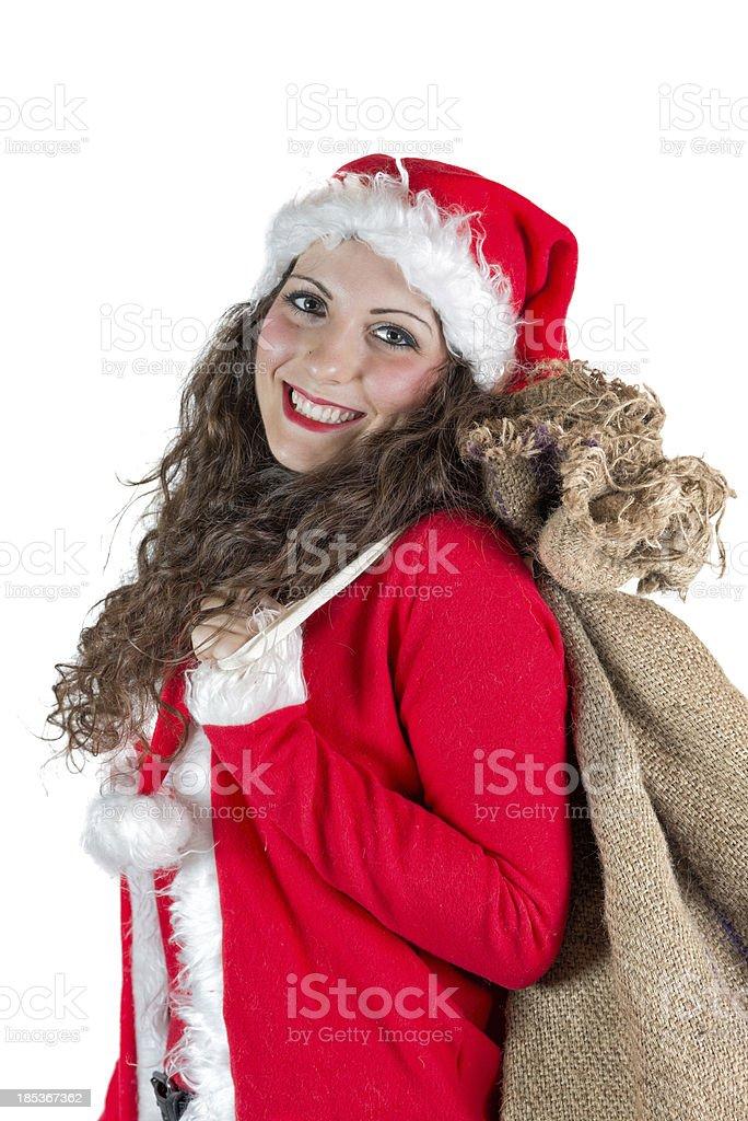 Christmas woman stock photo