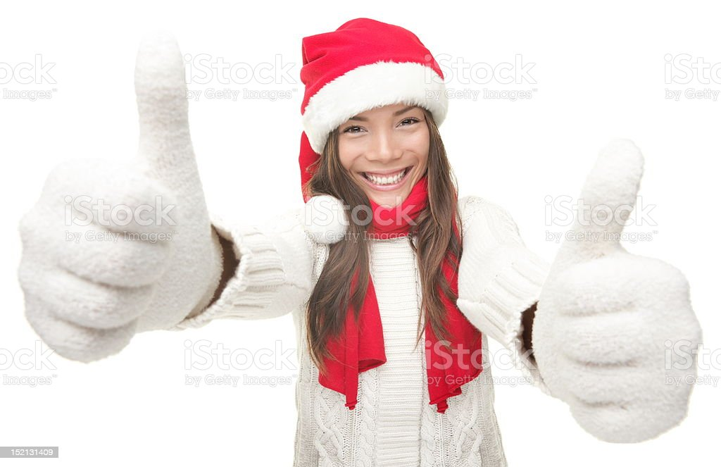 Christmas woman success royalty-free stock photo