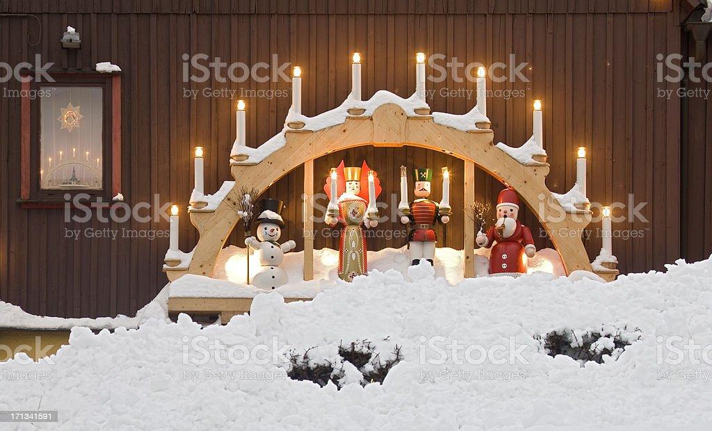 Christmas wood art royalty-free stock photo