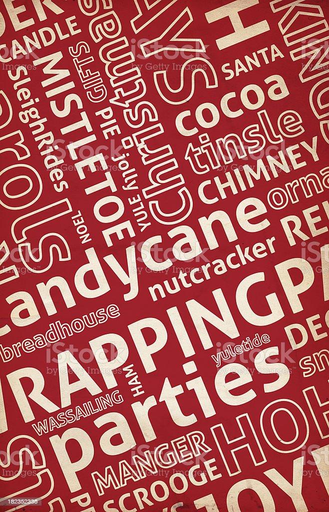 Christmas Word Paper XXXL stock photo