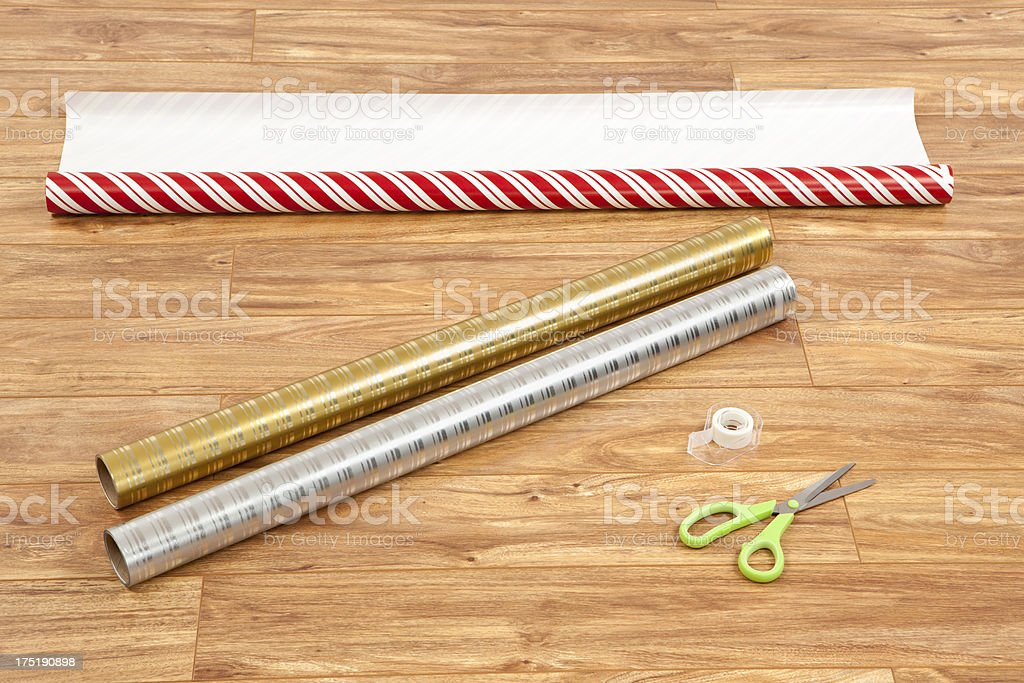 Christmas Wrapping Paper stock photo