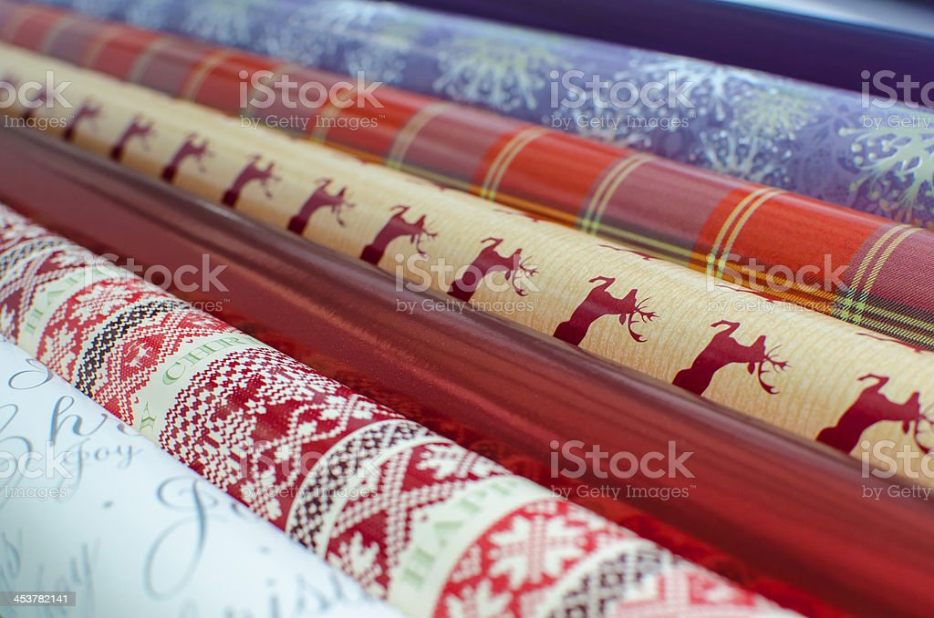 Christmas wrapping paper royalty-free stock photo