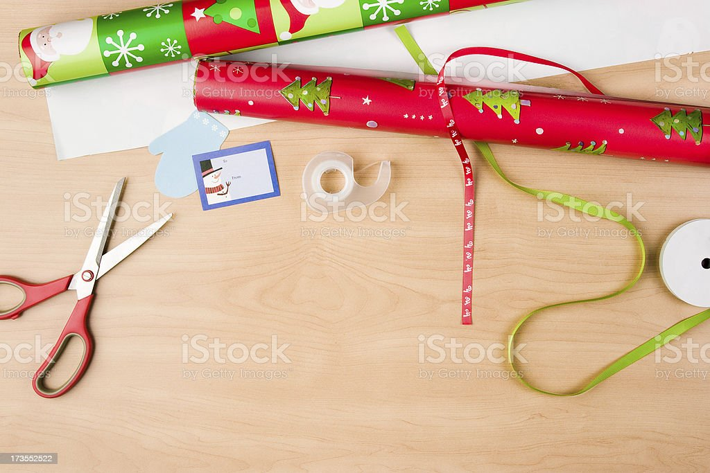 Christmas Wrapping stock photo