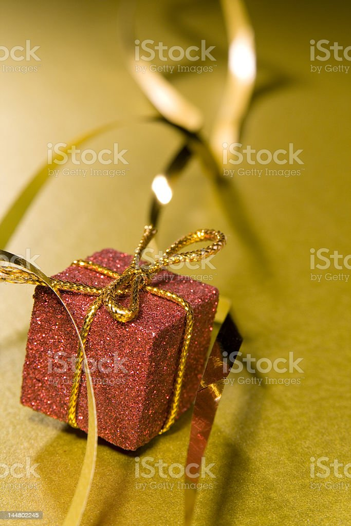 Christmas wrapping ribbon design element stock photo