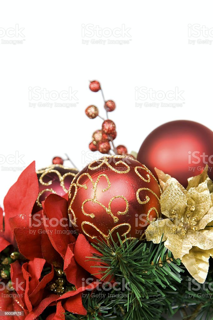 Christmas Wreath Close-Up royalty-free stock photo