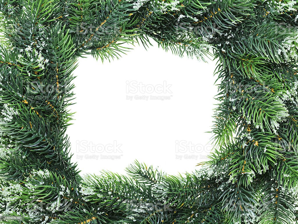 Christmas wreath framework, isolated on white royalty-free stock photo